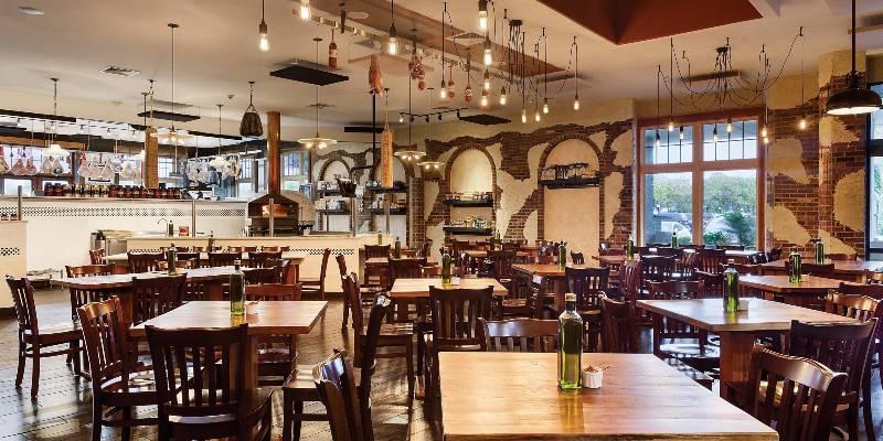 inside restaurant dining area